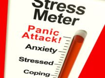 Stress Meter Showing  Panic Attack From Stress And Worry